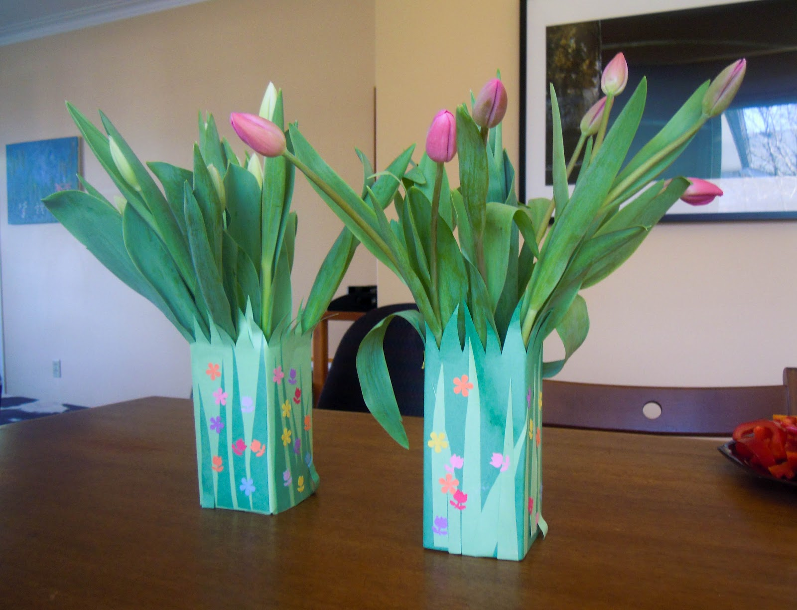 How To Make A Spring Vase From A Milk Carton Vone Inspired